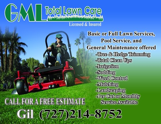 GML Total Lawn Care Flyer - GML Total Lawn Care